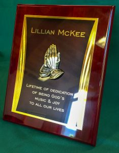 Laser Engraved Plaque with 3d Praying Hands