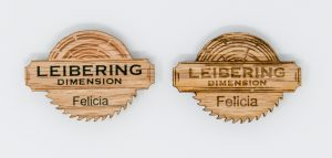UV Printed (left), Laser Engraved (Right) Red Oak