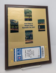 Sublimated Plaque with Baseball Ticket and Photos