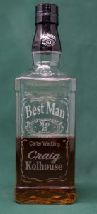 Laser Engraved Wedding Gifts, Best Man Whiskey Bottle