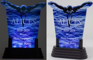 Vincennes Lincoln Alices Swim Team Custom Lighted Acrylic Award