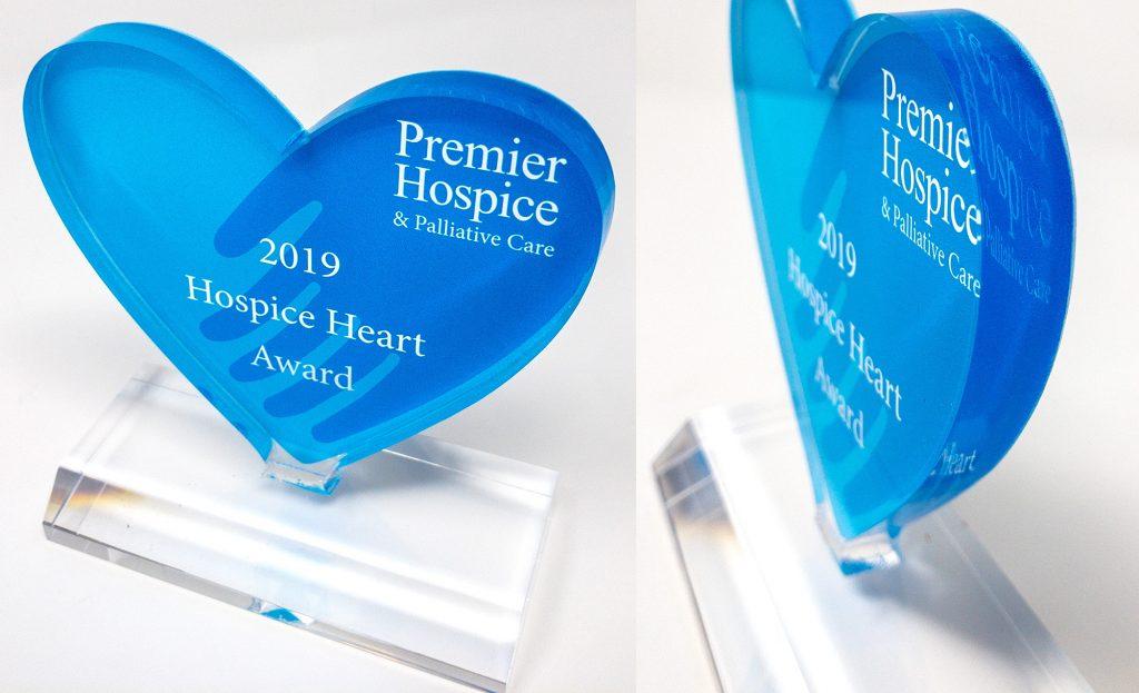 Premier Hospice Custom Acrylic Award