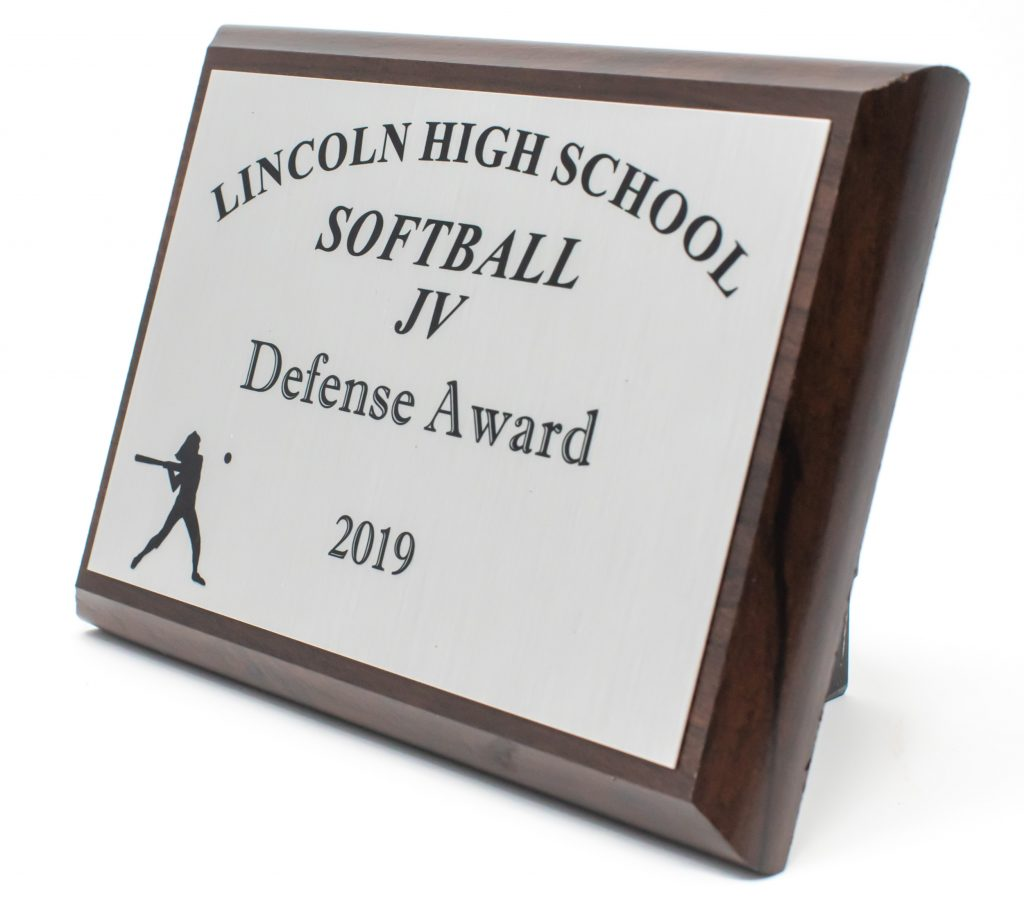 Lincoln High School JV Softball Plaque